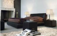 Дизайнерско тапицирано легло в черно