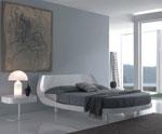 Елипсовидна спалня по поръчка с излята табла