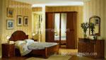 Масивна спалня по поръчка Традиция /тъмно дърво/