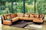 Луксозна мека мебел по поръчка - ъглов диван с лежанка