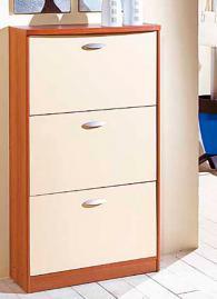 Шкаф за обувки с размери 126/72/28см в бяло
