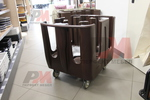 Професионални колички за чинии за заведения
