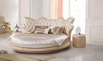 Тапицирани кръгли легла с дамаска